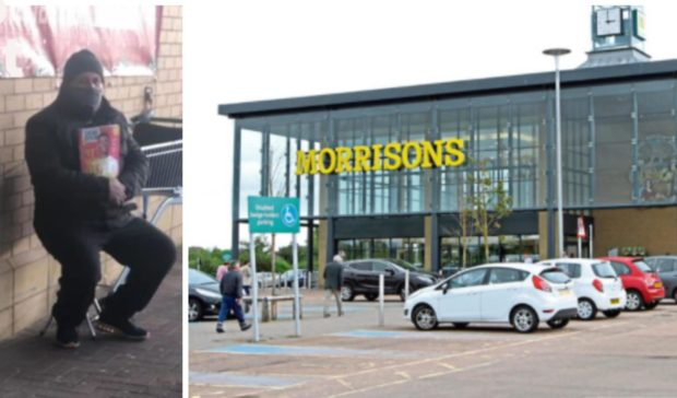 """The apparent """"fake"""" Big Issue vendor has been spotted outside Morrisons in Afton Way."""