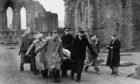 The Stone of Destiny was taken from Westminster Abbey on Christmas Day 1950 and eventually turned up in Arbroath in April 1951.