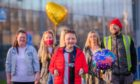 Garvie leaves Ninewells with his family.