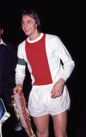 Ajax legend Johan Cruyff during 1973/74 season.