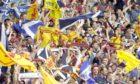 15/06/96 EUROPEAN CHAMPIONSHIP FINAL 1ST RND ENGLAND V SCOTLAND (2-0) WEMBLEY - LONDON Scotland fans in full voice.