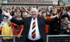 Jim McLean with Dundee United fans in 2011 after stand was named after him.