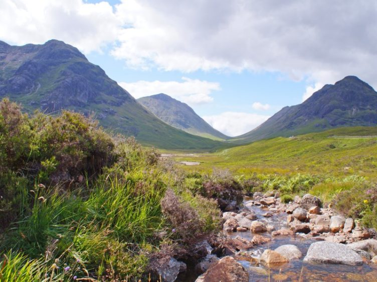 Take in stunning Scottish scenery.