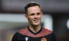 Mandatory Credit: Photo by David Young/Action Plus/Shutterstock (10817846l) Lawrence Shankland of Dundee United during the warm up before the match; Tannadice Park, Dundee, Scotland; Scottish Premiership Football, Dundee United versus Livingston. Dundee United v Livingston, Scottish Premiership, Football, Tannadice Park, Dundee, Scotland, UK - 02 Oct 2020