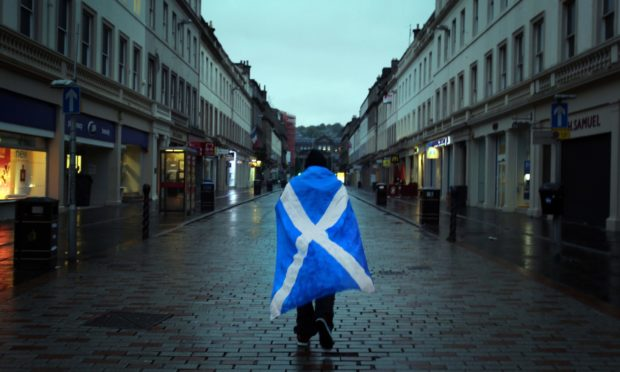 Dejected Yes voters head home disappointed in the early hours after Scotland rejected independence.