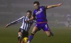 United in action against St Mirren.