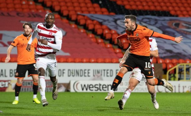 Nicky Clark in action against Hamilton Accies.