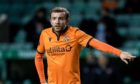 EDINBURGH, SCOTLAND - DECEMBER 19: Paul McMullan in action for Dundee United during a Scottish Premiership match between Hibernian and Dundee United at Easter Road, on December 19, 2020, in Edinburgh, Scotland (Photo by Ross Parker / SNS Group)