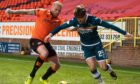 Mark Connolly, left, in action against Motherwell.