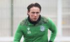 EDINBURGH, SCOTLAND - JANUARY 07: Hibernian's Scott Allan during a Hibernian training session at the Hibernian Training Centre on January 07, 2021, in Edinburgh, Scotland.