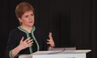 First Minister Nicola Sturgeon at Monday's briefing.