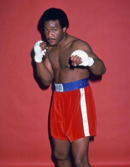 George Foreman pictured in 1976.