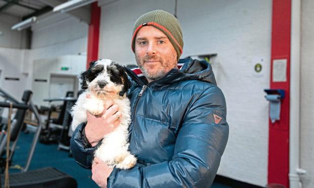 Dog rescue frozen reservoir