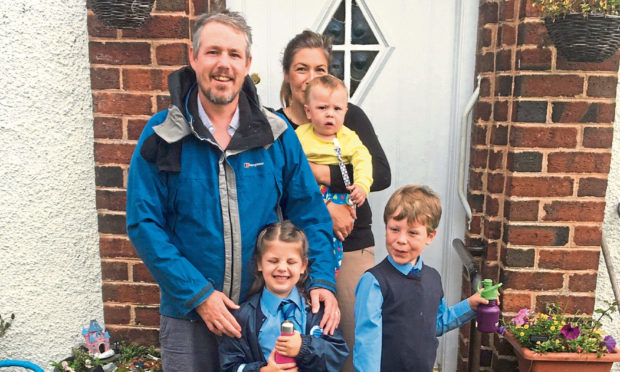 The Dryden family from Carnoustie eat a vegan diet.