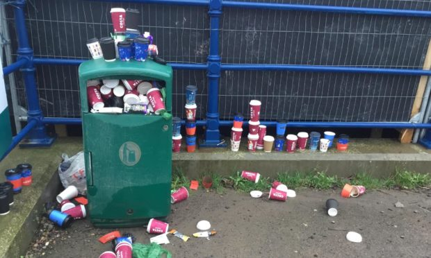 Litter in Broughty Ferry.
