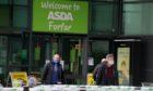 Shoppers at Asda Forfar,