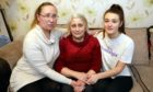 Valentyna Yakovleva in her home in Tayport with daughter Tania Sukhodub and grandaughter Daria.