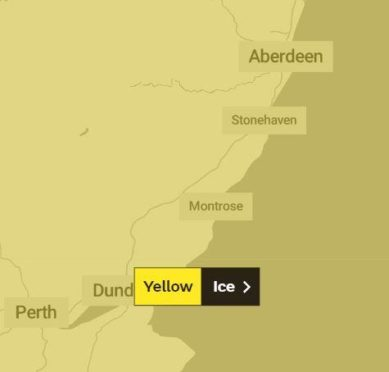 The weather warning over Tayside.
