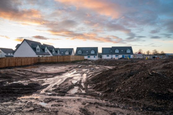 The developer is currently building 150 new homes at Linlathen Grove, on the site of the former house.