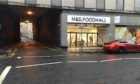 The entrance to M&S Foodhall on Seagate, Dundee.
