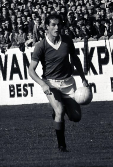 George McLean in action for Rangers during 1961-62 season.