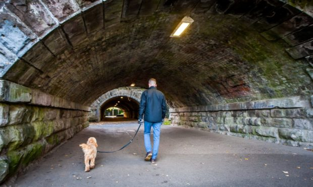 Police were called to false reports of a knife attack in the railway tunnels at the South Inch.