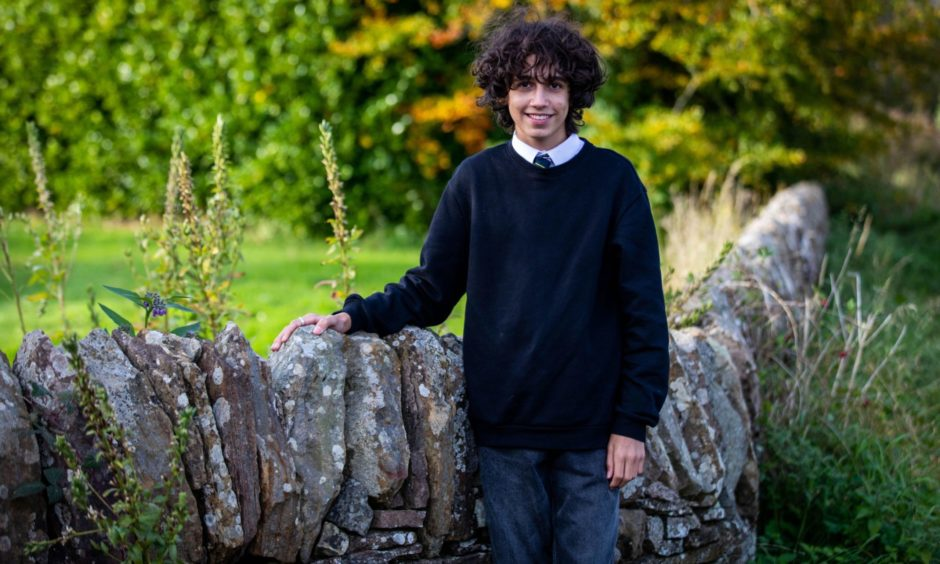 Saif Azzam, 15, is sitting National 5 courses at Bell Baxter High School in Cupar.