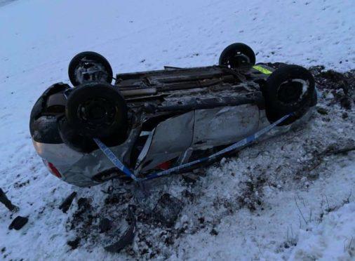 Paul McGowan's car overturned.