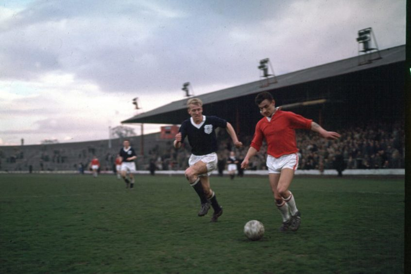 Dundee's Ian Ure (left) and Alex Harley, in his Third Lanark days.