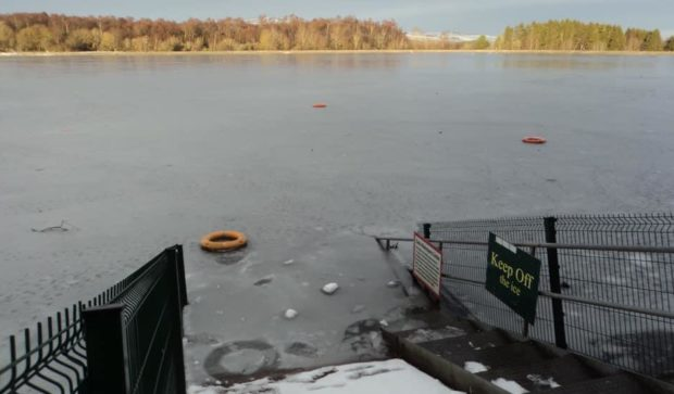 Vandals have been throwing life rings into the water at Clatto Park.