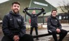 Picture shows; l to r, Area Manager David MacKenzie, Programme Coordinator Kyle Fraser and Business Development Manager Scott Hollinshead outside the Lynch Sports Centre on South Road, Dundee.