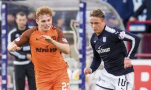 09/08/17 BETFRED CUP DUNDEE v DUNDEE UTD DENS PARK - DUNDEE Dundee United's Fraser Fyvie and Dundee's Scott Allan