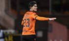 Dundee United midfielder Ian Harkes celebrates his goal against St Mirren.
