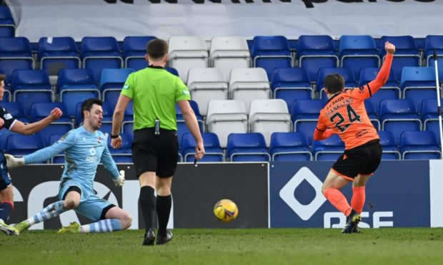 Lawrence Shankland strokes home for Dundee United.