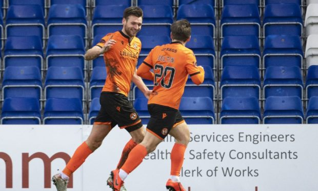 Dundee United defender Ryan Edwards (left) is in terrific form.