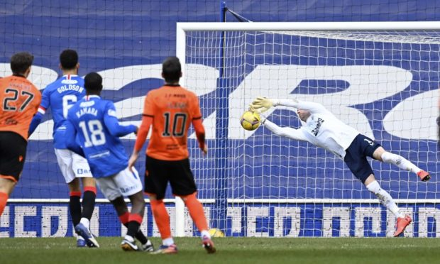Dundee United kid Louis Appere forced a terrific stop out of Rangers No 1 Allan McGregor.