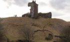 The latest landslips have left Red Castle teetering over Lunan Bay