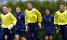 (L-R) Derek Soutar, Craig Gordon and Allan McGregor in Scotland U-21 training in 2002.