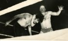 George Kidd wrestles Ivor Penzekoff at Caird Hall, Dundee  C4055 1965-01-05 George Kidd (C)DCT