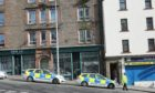 Police were in the Hilltown on Thursday morning.