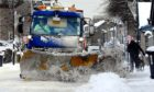 A gritter in Carnoustie High Street.