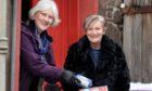 Chairwoman Kathy Calderwood & volunteer Mary Behan at the West Angus & Mearns Food Hub.