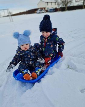 Harris, 4, and Hudson Ritchie, 1, from Longforgan.