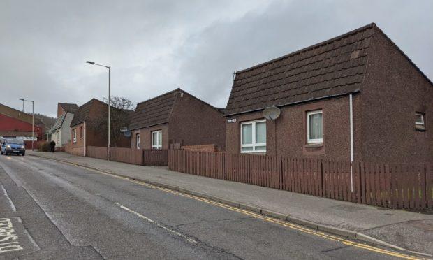The sheltered housing accommodation on Kinghorne Road