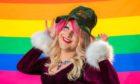 Local drag queen Scarlet Skylar Rae.