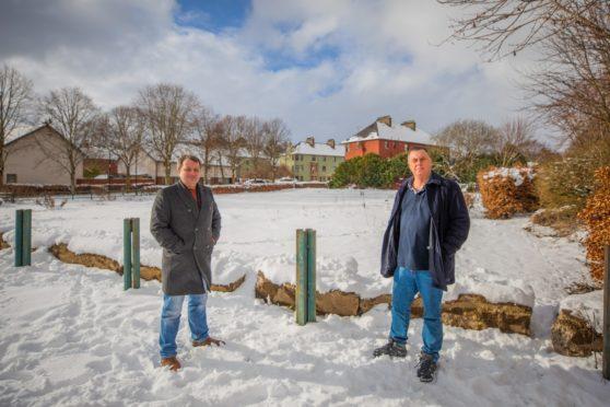 Councillor Ian Massie (left) and Councillor John Rebbeck (right).