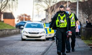 Police officers used battering ram to gain entry to the property.