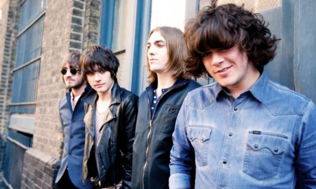An early photo of Dundee rockers The View