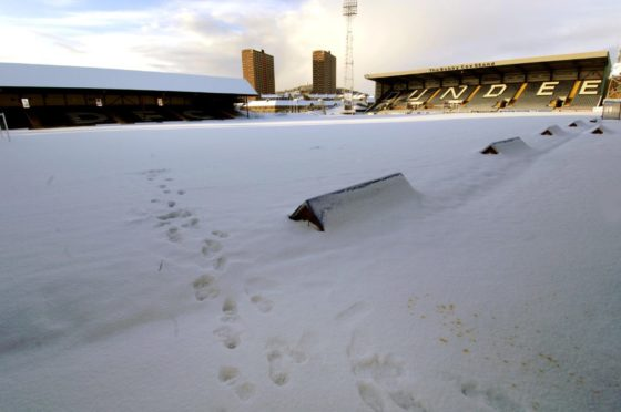 Dens Park covered in snow in 2010 (stock image).