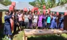 Studnets at Balozi College in Kenya received handmade reusable period pads from students at Dundee and Angus College